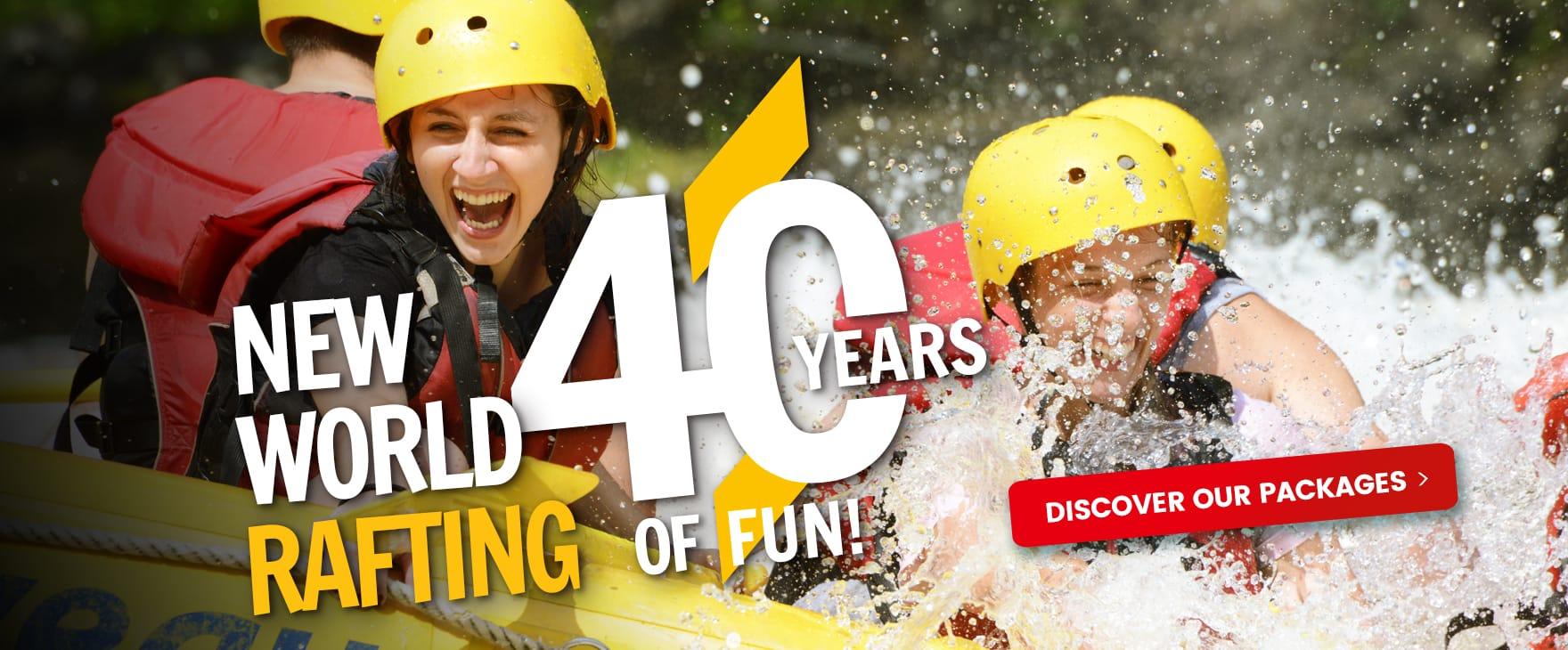 New World Rafting | It's 40 years of fun!
